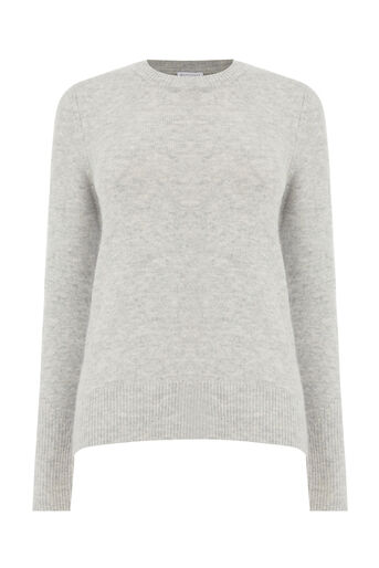 Warehouse, SOFT CREW JUMPER Light Grey 0