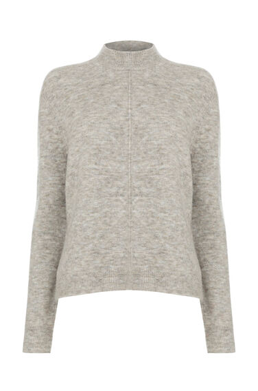 Warehouse, SHORT BOXY MOHAIR JUMPER Beige 0
