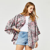 Warehouse, TIGER PRINTED KIMONO Light Pink 4