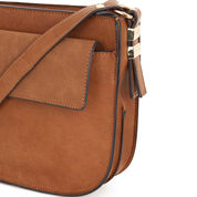Warehouse, Small Saddle Cross Body Bag Tan 3