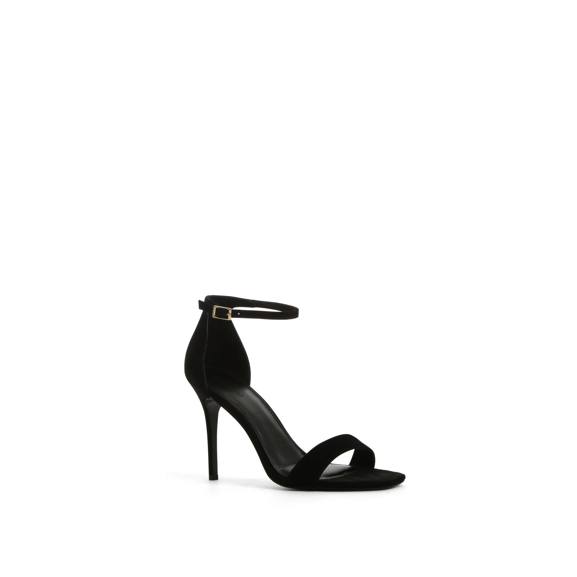 Warehouse, TWO PART HEELED SANDALS Black 1