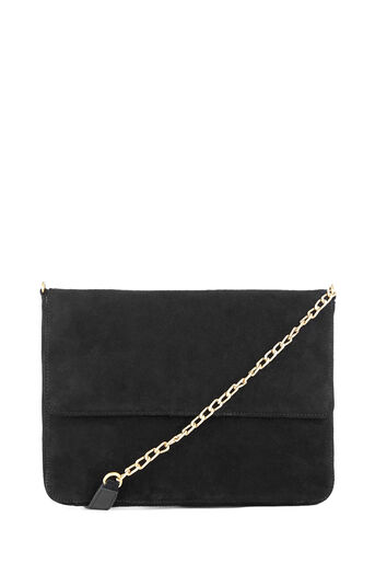 Warehouse, SUEDE ENVELOPE CROSSBODY Black 0