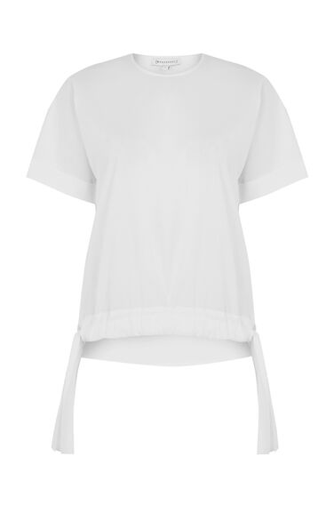 COTTON RUCHED HEM TOP