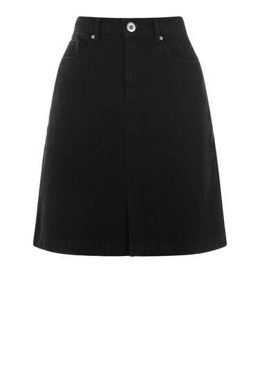 Split Front Denim Skirt
