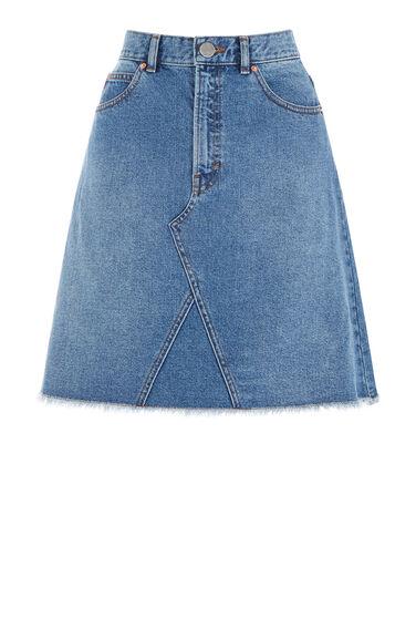 Reconstructed Denim Skirt