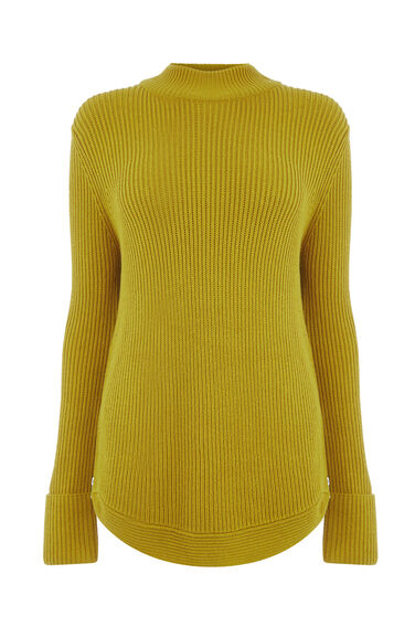RIBBED ZIP SIDE JUMPER