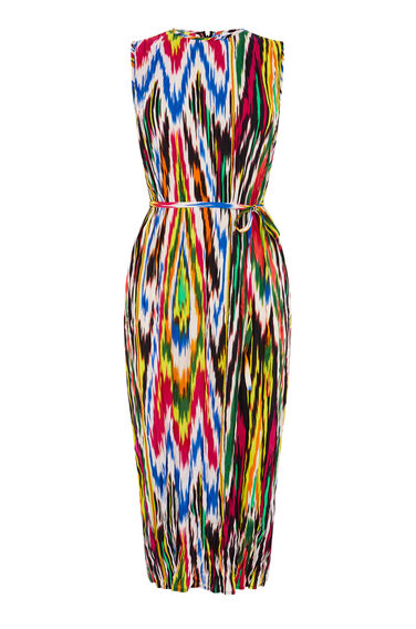 RAINBOW IKAT CRINKLE DRESS