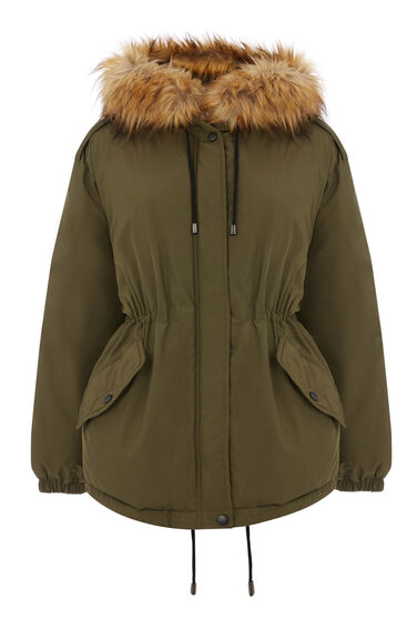 Short Drawstring Parka