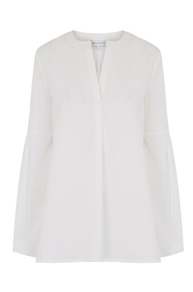 COTTON BLOUSON SLEEVE TOP
