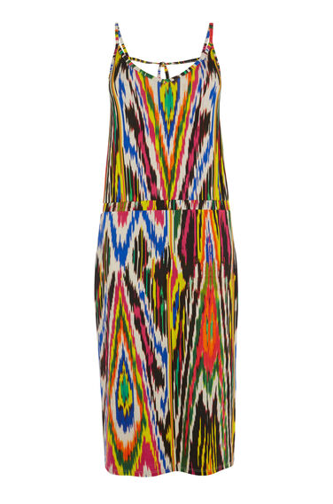 RAINBOW IKAT CAMI DRESS