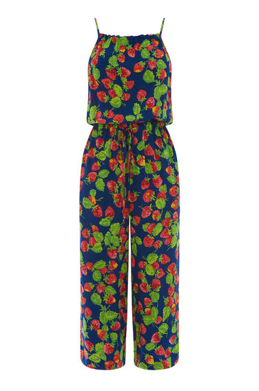 STRAWBERRY PRINT JUMPSUIT