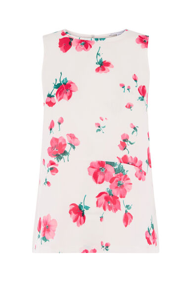 DELIA FLORAL WOVEN FRONT TOP