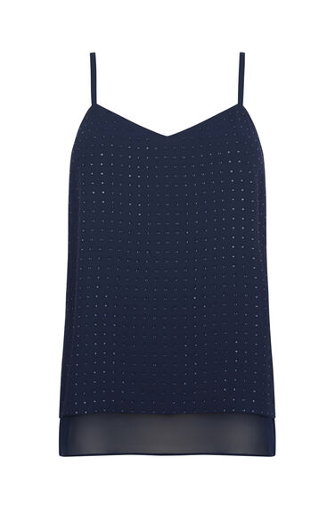 EMBELLISHED WOVEN FRONT CAMI