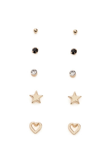 HEART 5 EARRING PACK