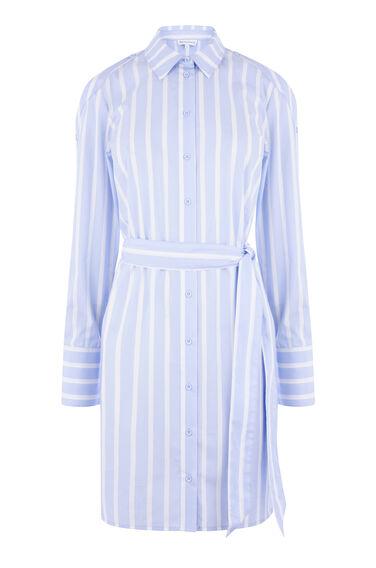 BUTTON SLEEVE SHIRT DRESS