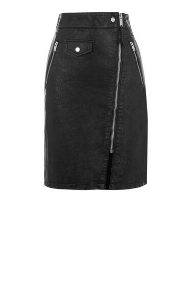 Biker Zip Skirt