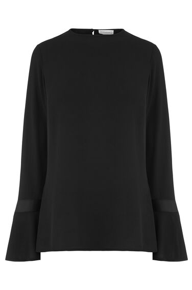 GROSGRAIN FLARED CUFF TOP