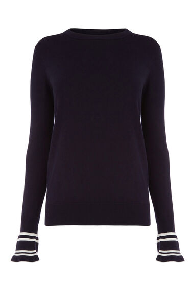 FLARED STRIPE CUFF JUMPER