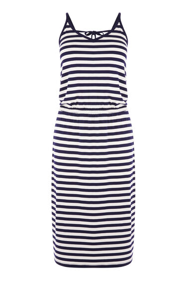 STRIPE CAMI MIDI DRESS