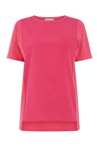 COTTON FRONT POCKET TEE