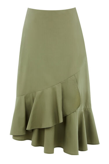 COTTON FRILL HEM SKIRT
