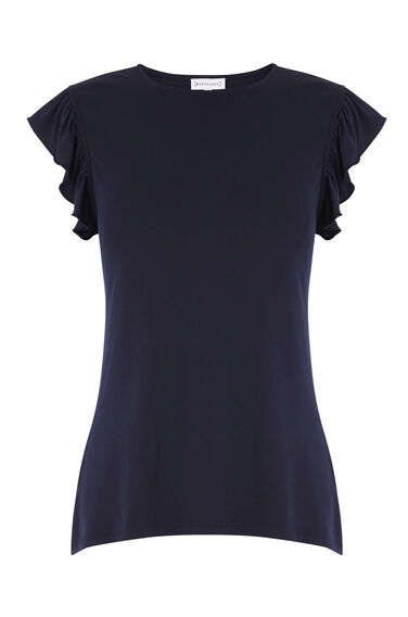CUT OUT BACK FRILL TOP