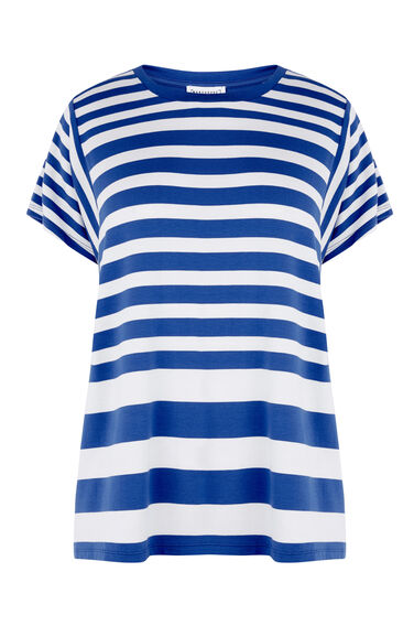 STRIPE PANEL CUTABOUT TEE