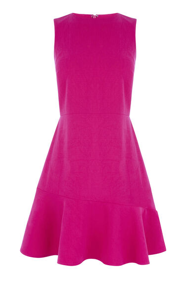 PEPLUM FLIPPY HEM DRESS