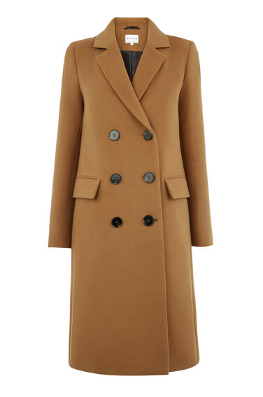 DOUBLE BREASTED CROMBIE COAT