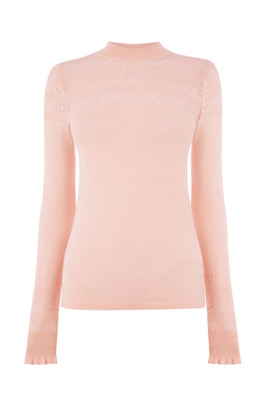 POINTELLE HIGH NECK JUMPER