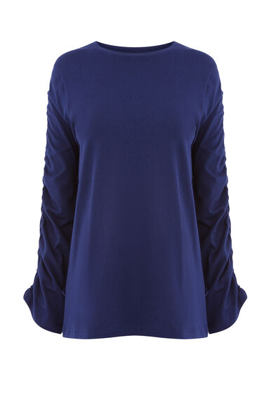 RUCHE LONG SLEEVE TOP