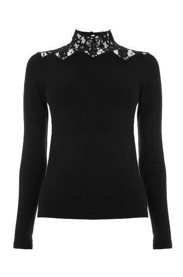 LACE HIGH NECK JUMPER