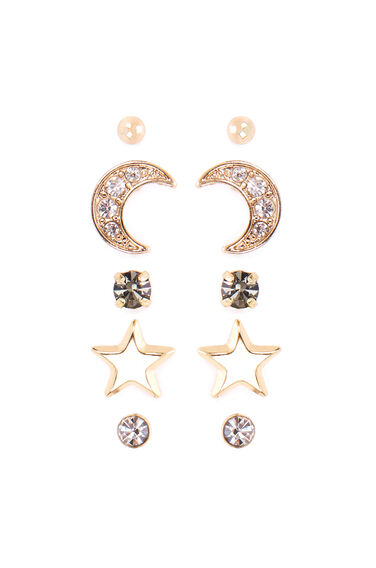 CRYSTAL MOON EARRING 5 PACK