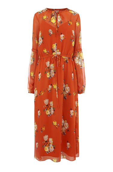 VICTORIA FLORAL CHIFFON DRESS