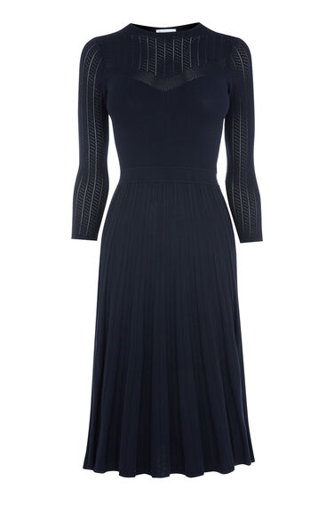 POINTELLE PLEATED FLIPPY DRESS