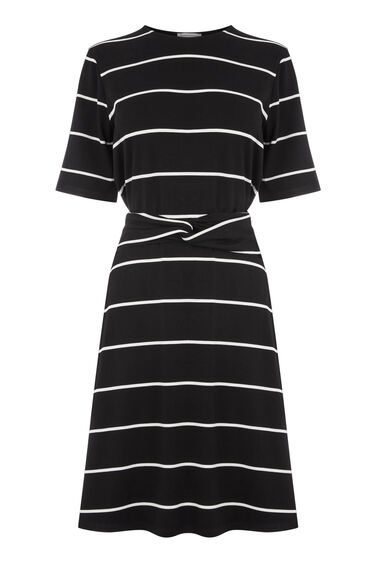 STRIPE TWIST BELT DRESS