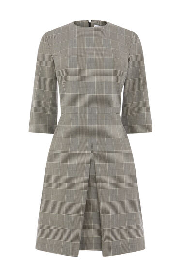 MONO CHECK BOX PLEAT DRESS
