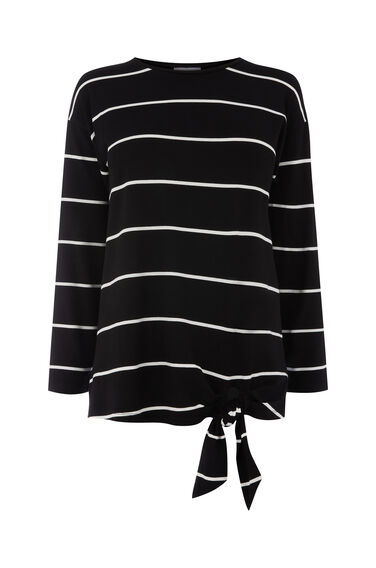 TIE SIDE STRIPE TOP