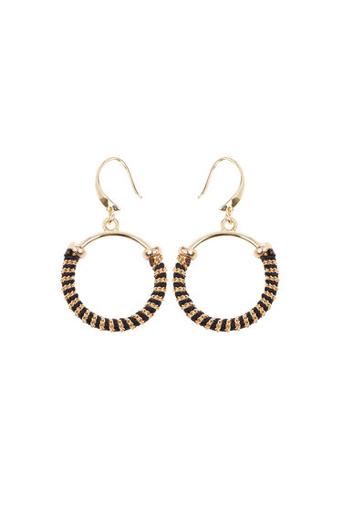 Circle Twisted Inlay Earrings