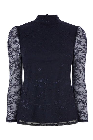 CHANTILLY LACE HIGH NECK TOP