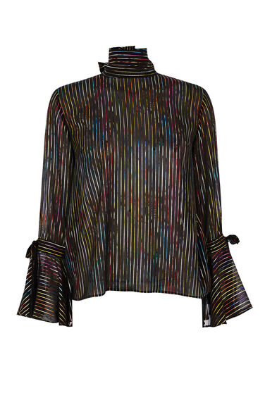 RAINBOW SHIMMER TIE BACK TOP
