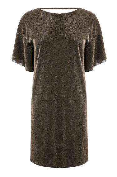 METALLIC TUNIC DRESS