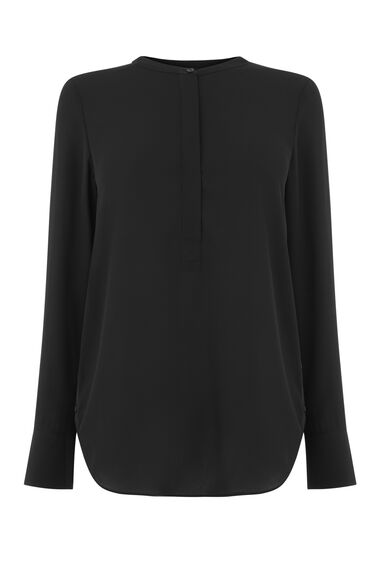 LONG SLEEVE BUTTON SIDE BLOUSE