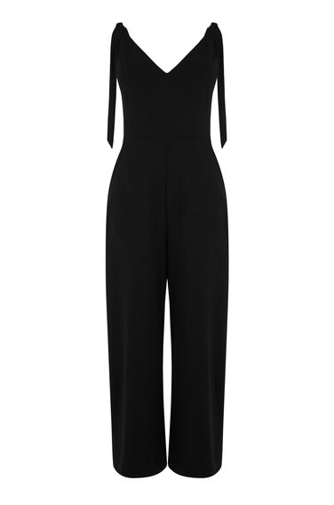 CREPE TIE SHOULDER JUMPSUIT