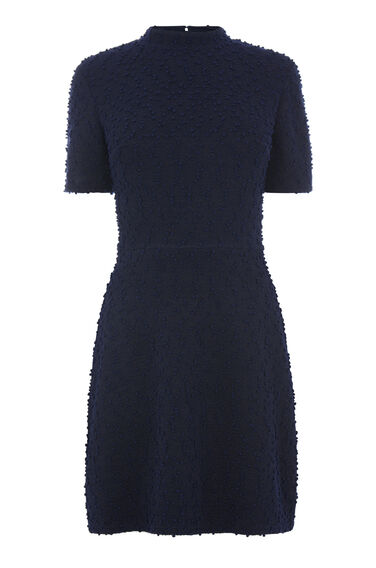 HIGH NECK BOUCLE DRESS
