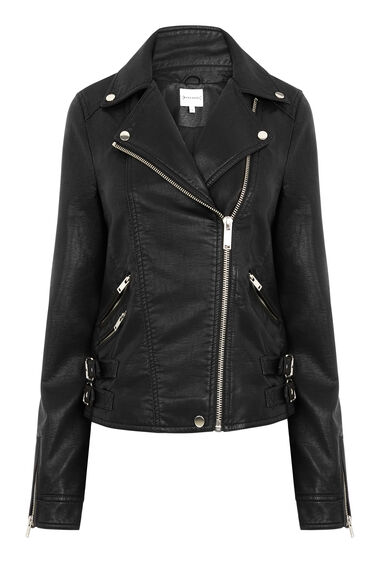 FAUX LEATHER CORE BIKER