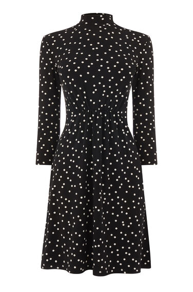 POLKA DOT HIGH NECK DRESS