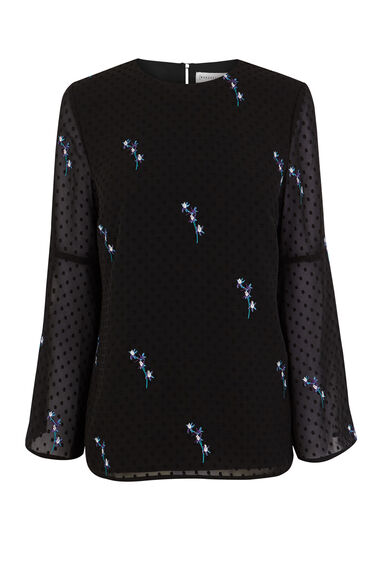 GILLY FLORAL EMBROIDERED TOP