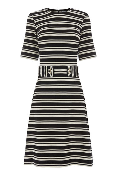 CAVALRY STRIPE PONTE DRESS