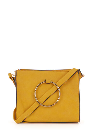 RING DETAIL BOXY CROSSBODY